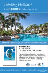 Carrick Travel Advert