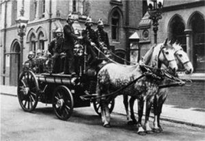 Old Horsedrawn Fire Engine