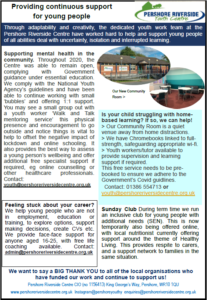 Riverside Youth Centre Article