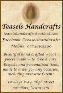 Teasels Advert