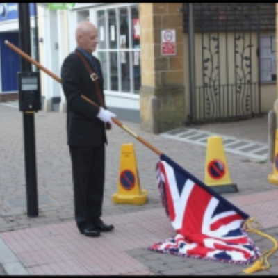 The Towns Standard Bearer And Union Standard Flag