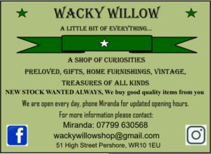 Wacky Willow Advert