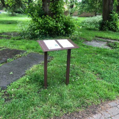 Biodiversity Information Board in St Andrews Gardens
