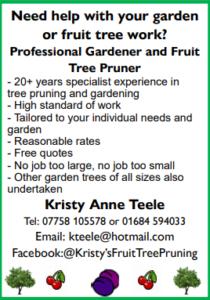Fruit Tree Pruning Advert