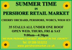 Pershore Market Summer Advert