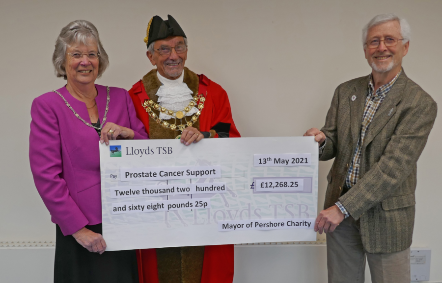 Prostate Cancer Donation Cheque