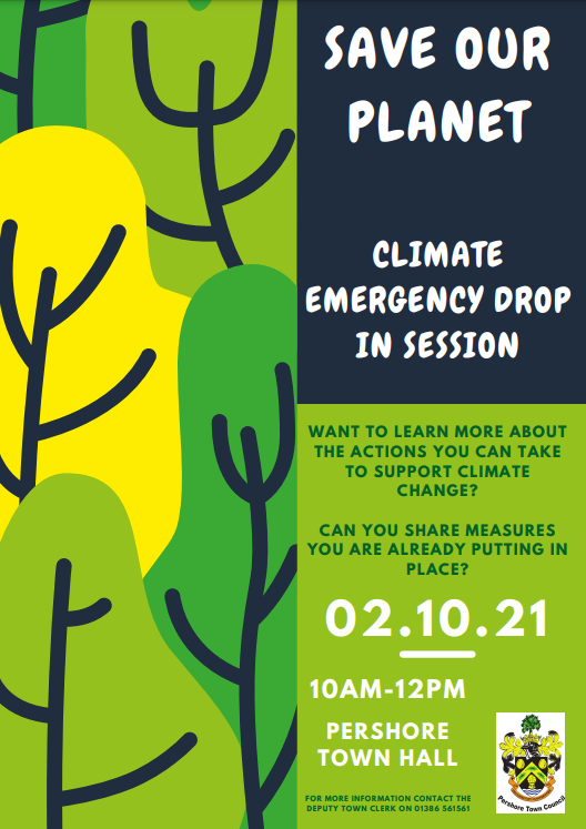 Climate Emergency Drop in Poster